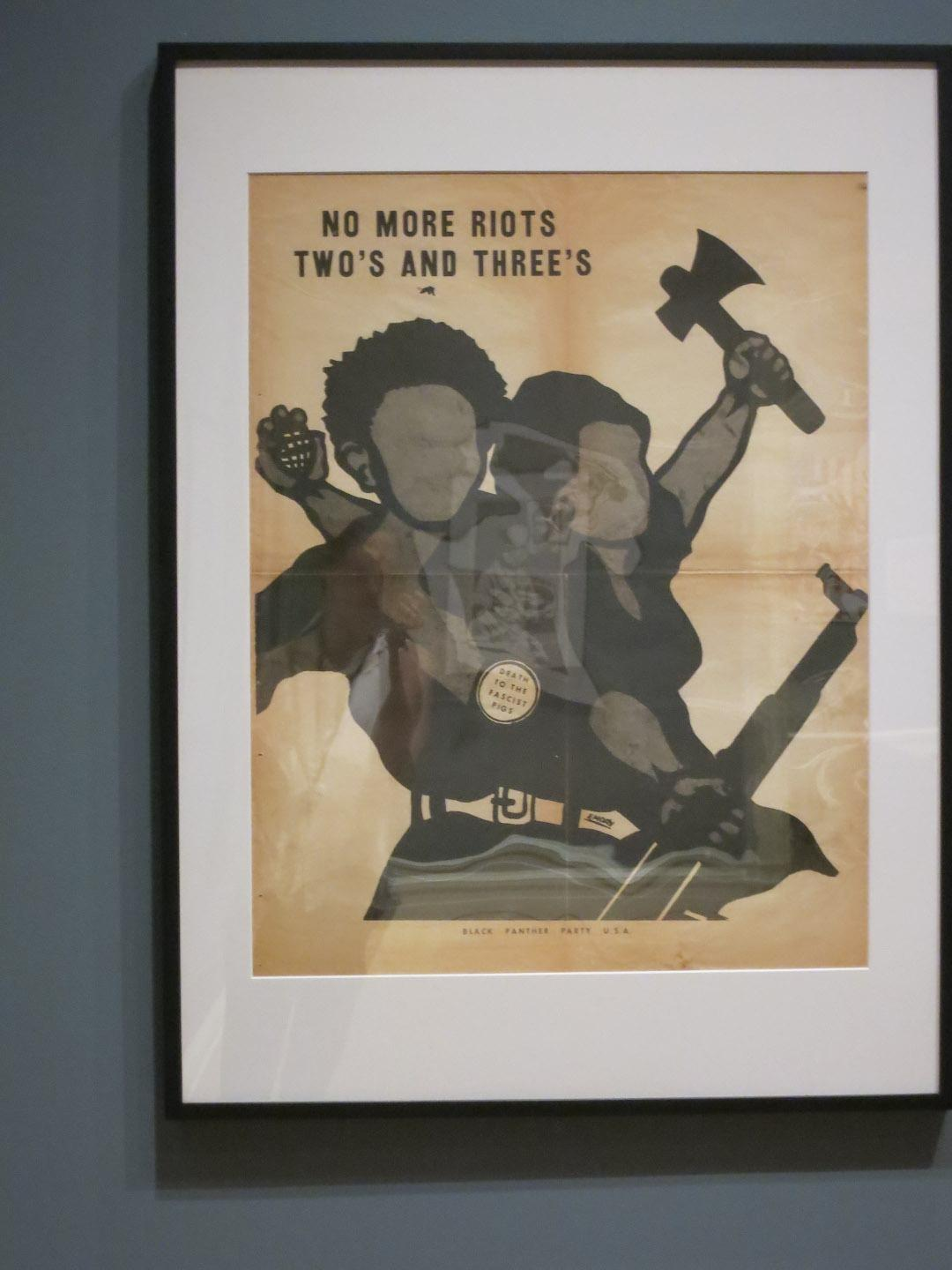 This is the object I led my tour on:  No More Riots Two's and Three's, Emory Douglas (ca. 1970), Lithograph on paper