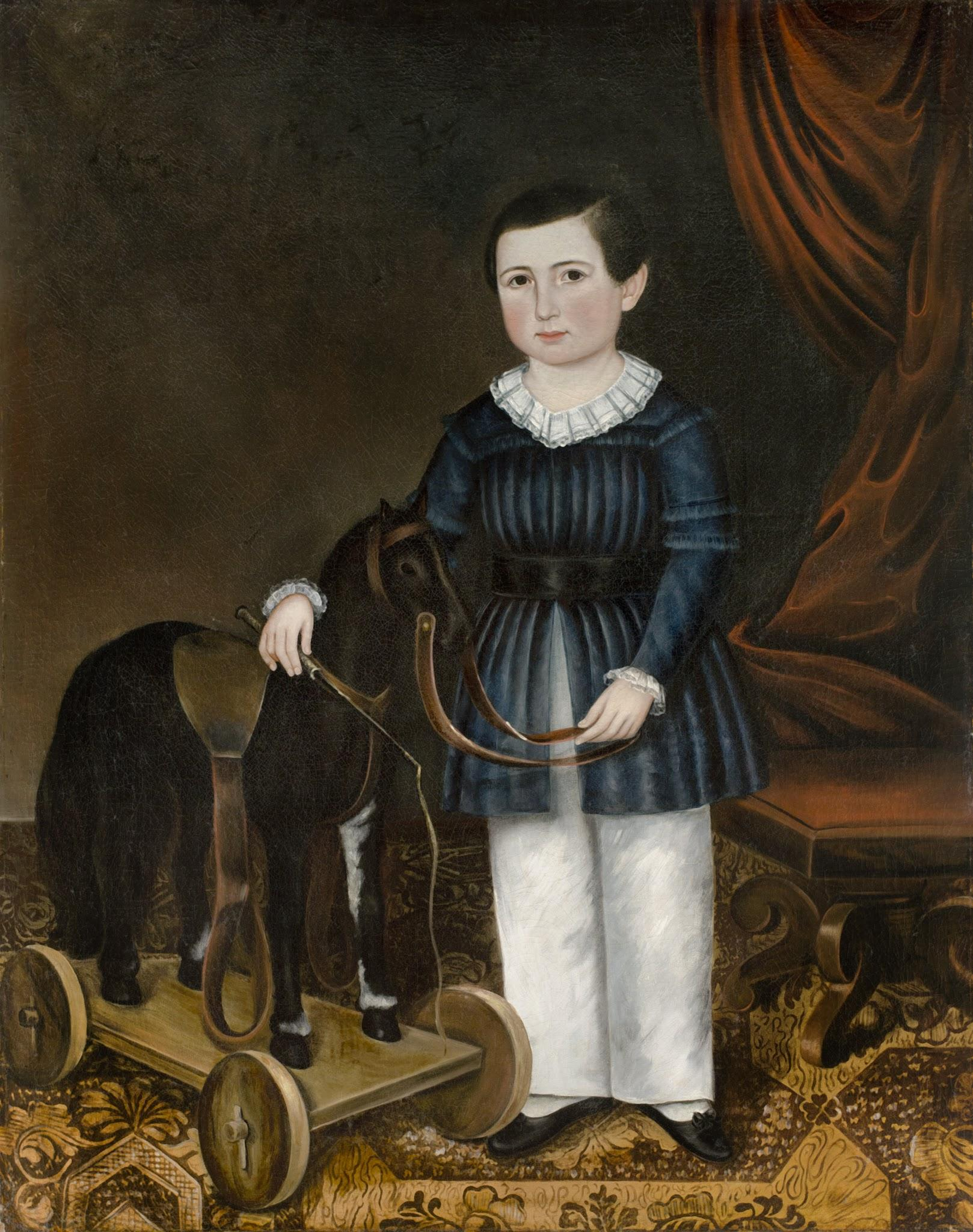 Joseph Whiting Stock, Willard T. Sears (1837-1920) with a Horse Pull Toy, 1843. Oil on canvas, purchased from Elie Nadelman, Collection of the New-York Historical Society, 1937.452