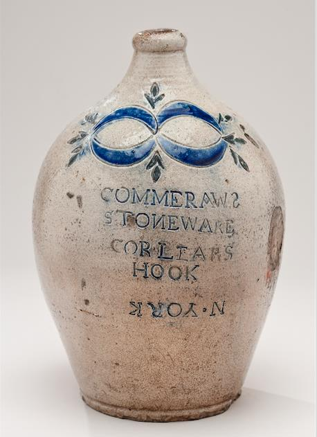 Thomas W. Commeraw, Jug, ca. 1796-1819. Stoneware, Collection of New-York Historical Society, 1937.820
